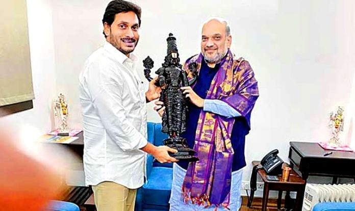 YS Jagan and Amit Shah