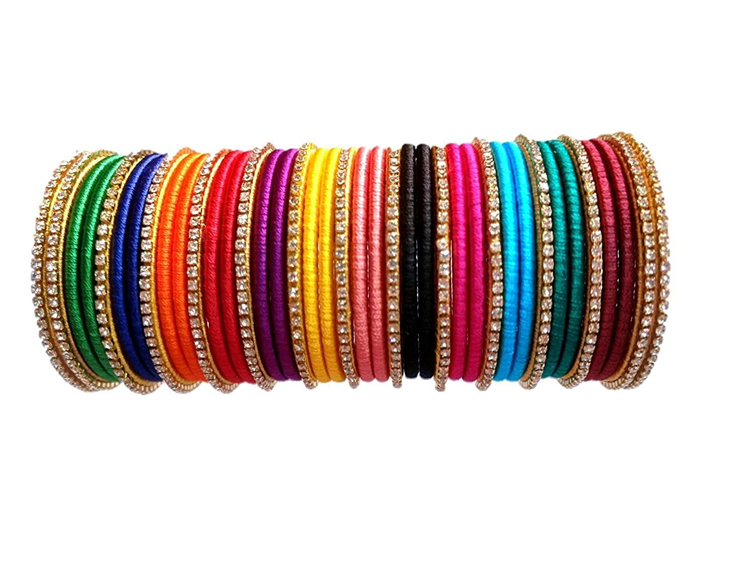 the result of  wearing different colour bangles