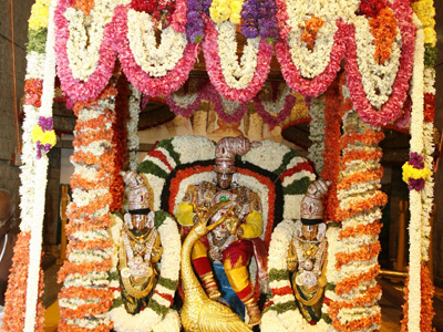 2020 Th Year 4 Th Day Vehicle Service For Sri Venkateswara Swamy In Tirumala Brahmotsavalu