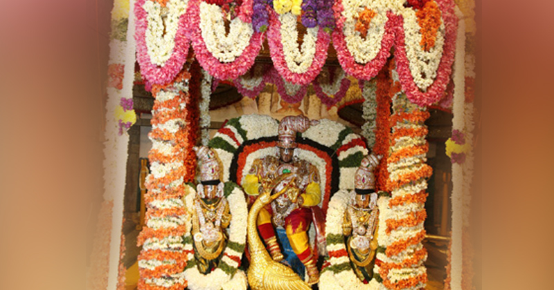 2020 Th Year The 8 Th Day Vehicle Service For Sri Venkateswara Swamy In Tirumala Brahmotsavalu