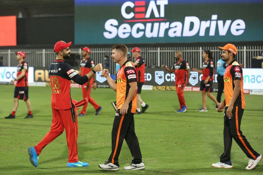 sunrisers hyderabad won by 5 wickets on royal challengers bangalore
