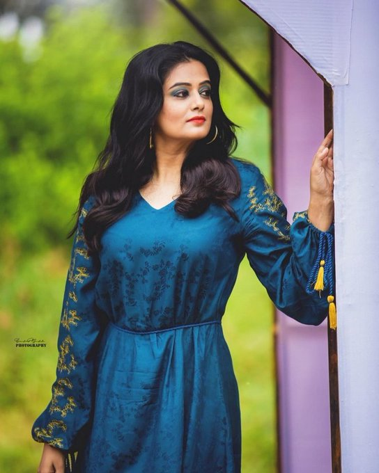 Priya Mani Blue Color Dress Photos