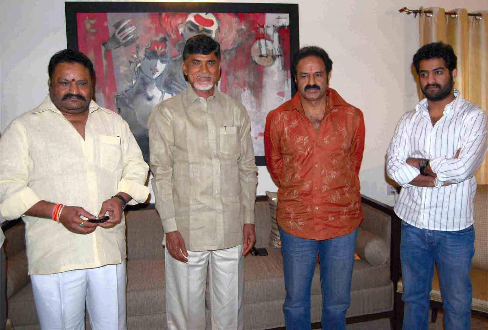 cbn and nandamuri family telugu rajyam