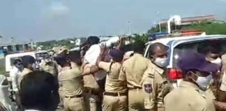 revanth reddy arrested while going to visit kalwakurthy project