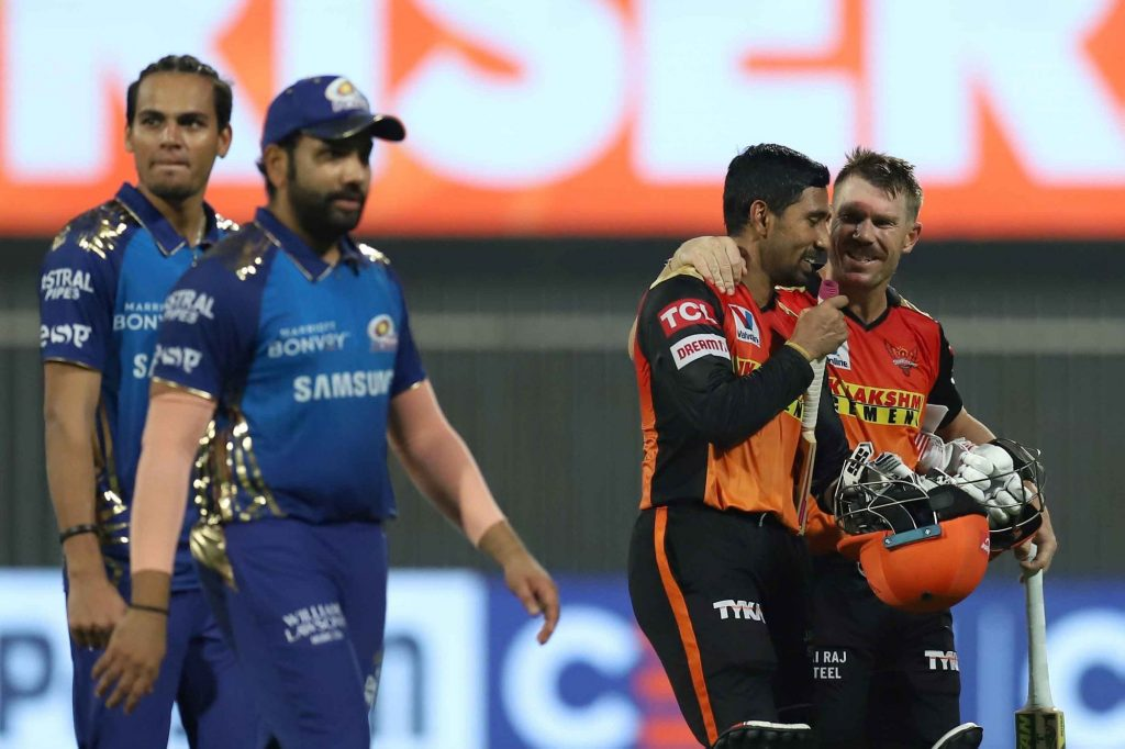Sunrisers Hyderabad Won By 10 Wickets