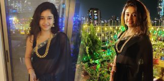 Poonam Bajwa Black saree Photos