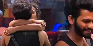 akhil and monal kiss in bigg boss house