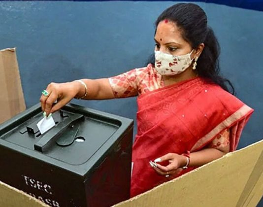 kalvakuntla kavitha have The right to vote two places