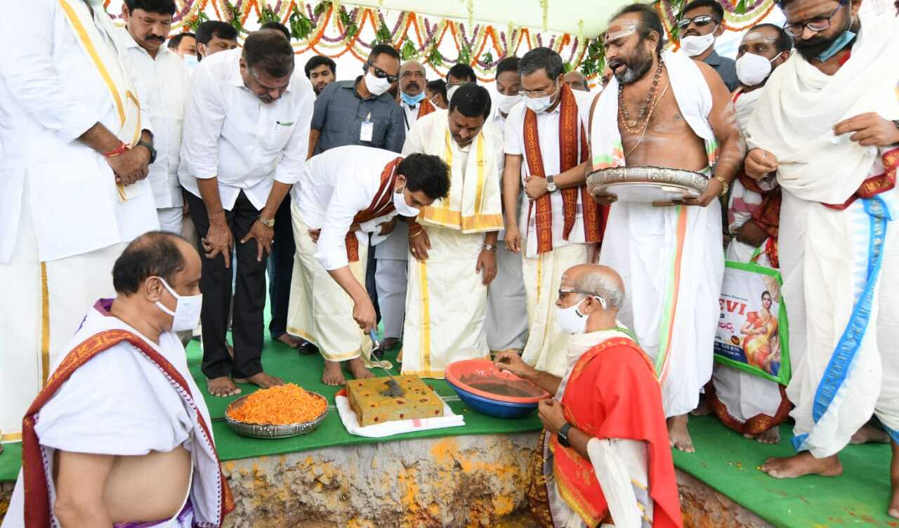 Y S Jagan Mohan Reddy On Friday Laid The Foundation Stone For The Reconstruction Of Nine Temples