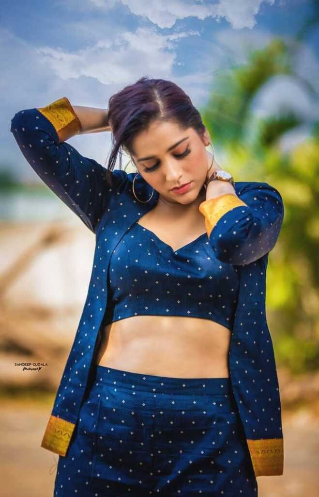 Rashmi Gautam Blue Dress Stills