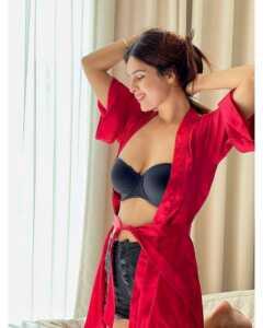 Neha Malik Red Dress Stills 18   Telugu Rajyam