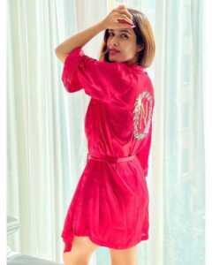 Neha Malik Red Dress Stills 22   Telugu Rajyam