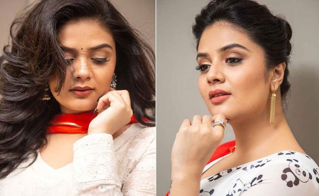 Sreemukhi is Mesmerzing Looks In a white Outfit